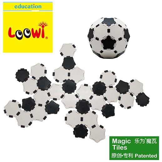 """乐为魔瓦乐为足球装,足球是""""拼""""出来的!足球有12个正五边形+20个正六边形+90条边。足球的结构就是碳60(足球烯)结构,有60个顶点。"""