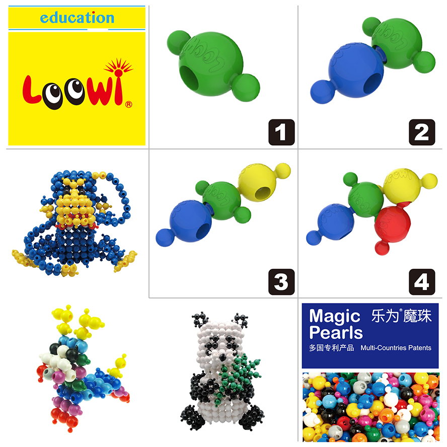 Loowi Big Magic Pearls@Loowi artToys, spatial intelligence, fine bodily-kinesthitic intelligence, interpersonal intelligence